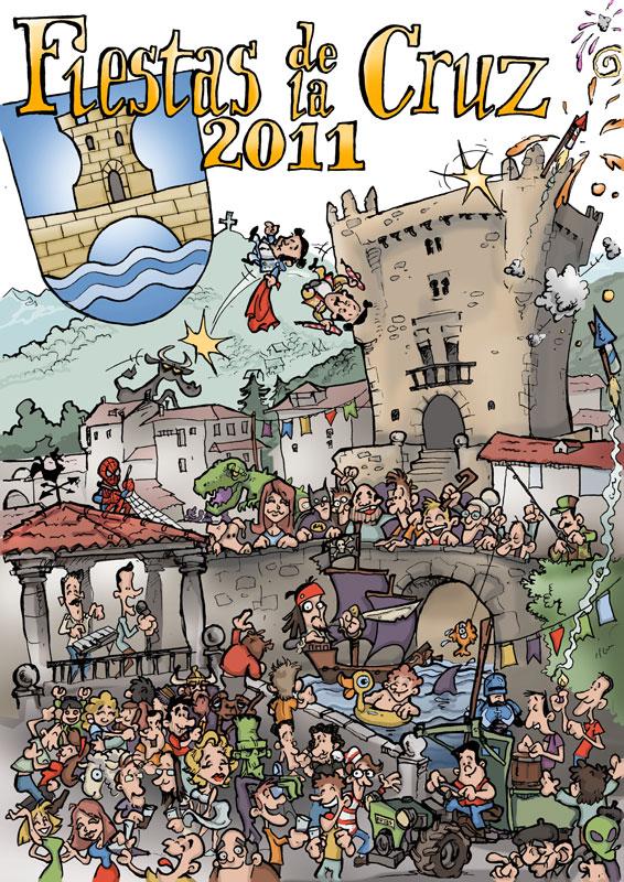 Cartel Fiestas de la Cruz Potes 2011