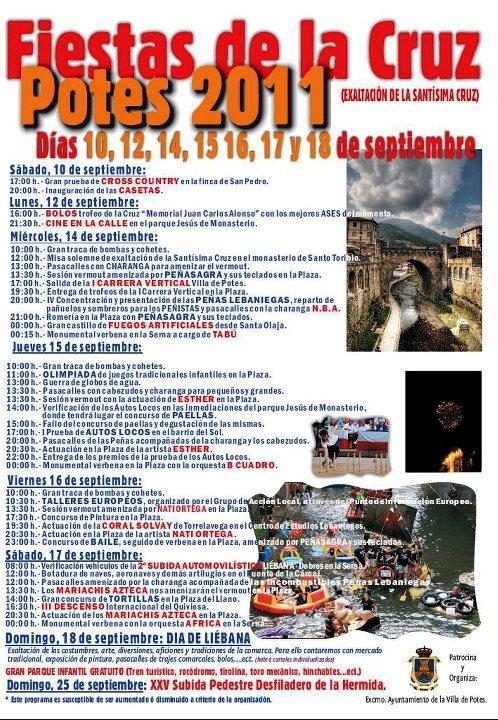 Programa fiestas cruz potes 2011