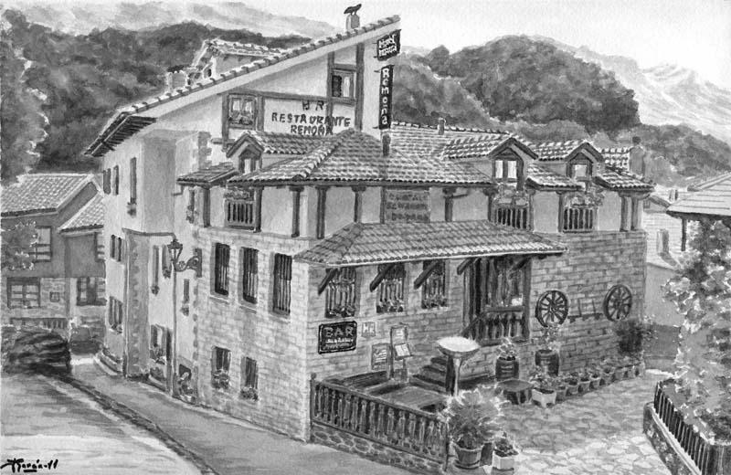 Hostal Restaurante Remoña dibujo