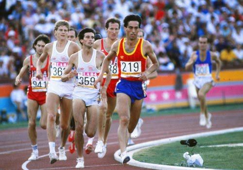 Abascal en la final de 1500 m de Los Angeles 84