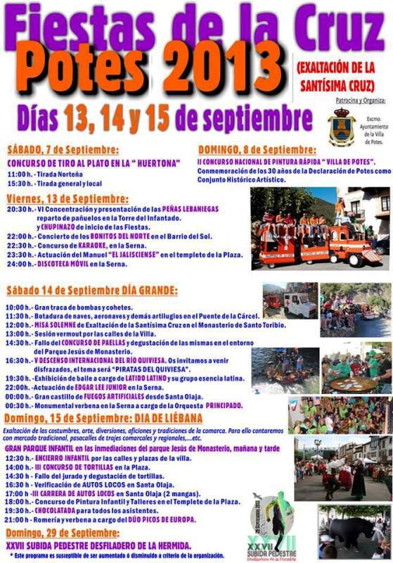 Cartel Fiestas de la Cruz Potes 2013