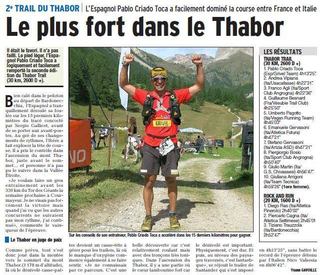 Pablo Criado ganador Thabor Trail 2014-2