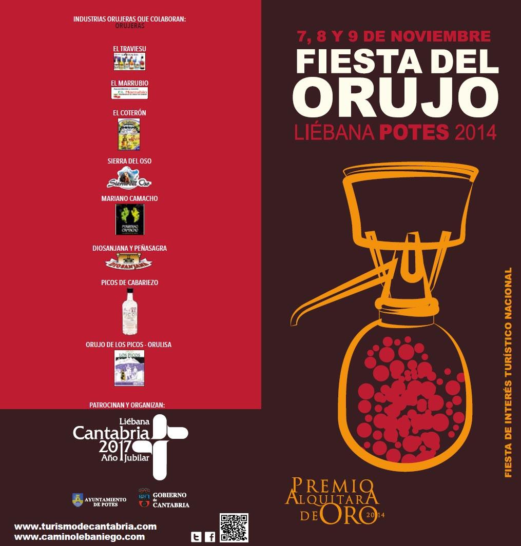 Cartel Fiesta del Orujo de Potes 2014