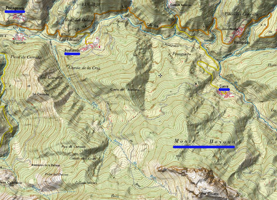 Recorrido ruta Monte Hoyona
