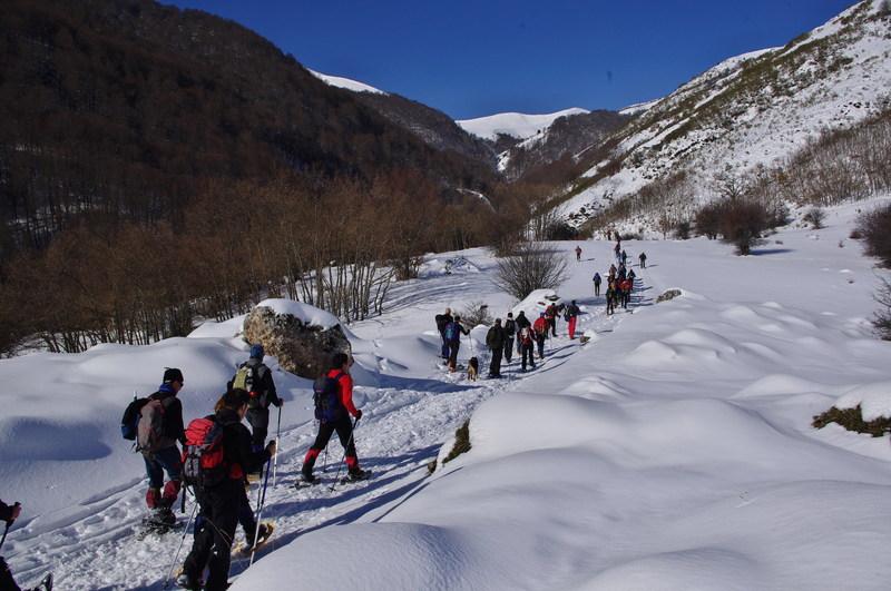 Ruta raquetas nieve Picos de Europa